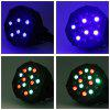 2pcs 18W LED RGB Stage Par Light with DMX-512 Control - BLACK