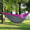 Portable One Person Parachute Nylon Fabric Hammock - PURPLE AND GREY