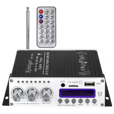 Kentiger V10 Bluetooth Hi-Fi Bass Audio Stereo Power Amplifier line5 black and gold a965 100w bluetooth wireless digital power amplifier hifi power amplifier power