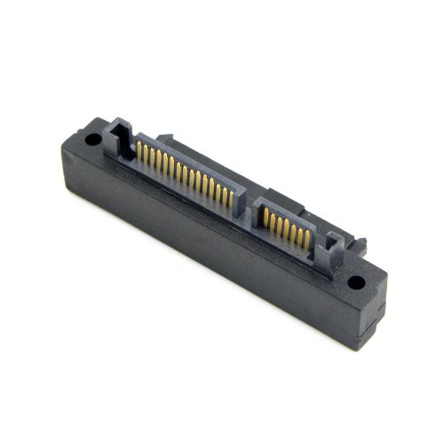 SFF-8482 SAS 22 Pin to 7+15 Pin SATA Male HDD Drive Adapter 90 Degree Angle HOT
