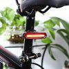 Rechargeable Bicycle Dual Color Flashlight Tail Light - RED