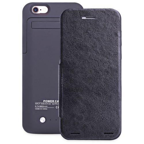 new styles b40fc 29a8b 3500mAh Rechargeable Battery Flip Case for iPhone 6 / 6S