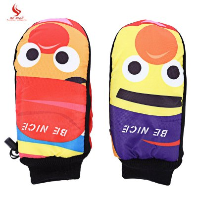 BENICE Paired Man Woman Warm Cartoon Cycling Ski Glove