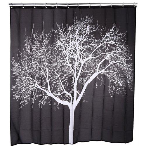 Snow Tree Pattern Water Resistant Shower Curtain