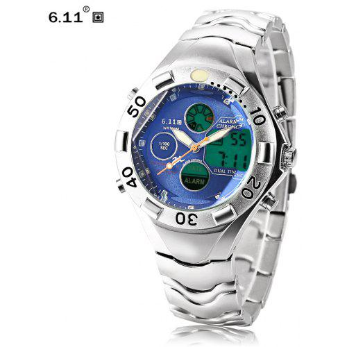 6.11 898 Male Dual Movt LED Watch
