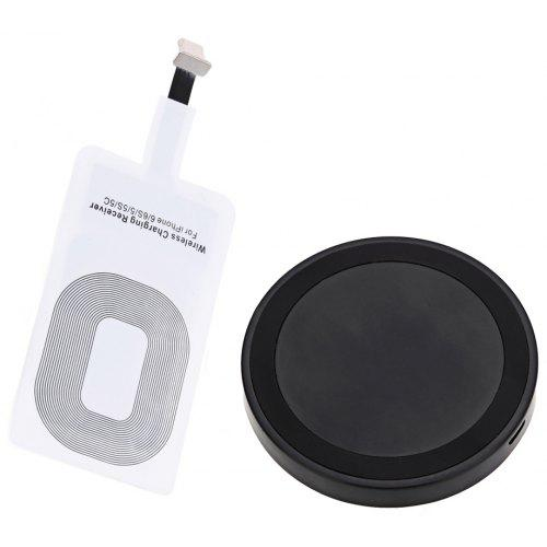 Qi Wireless Charger + Charging Receiver for iPhone   Gearbest