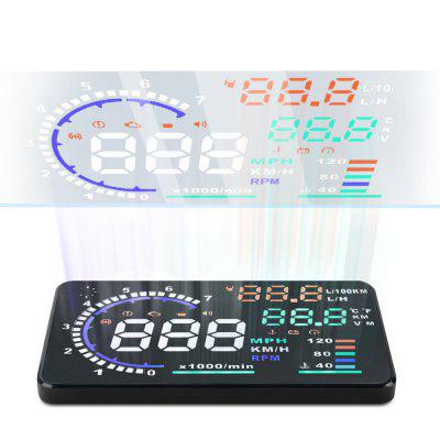Refurbished A8 5.5 inch OBD II Car HUD Head Up Display Windscreen Projector with Speed Warning RPM MPH