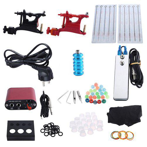 Complete Tattoo Kit Professional 2 Rotary Motor Machine Guns