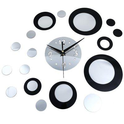 DIY Creative Round Mirror Wall Clock Stickers Home Decor