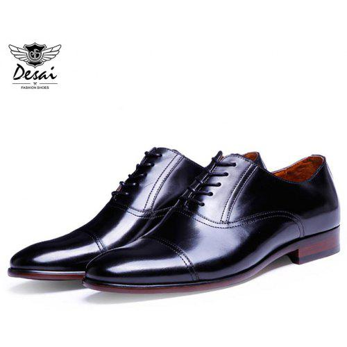 Shoes Analytical Men Dress Shoes Leather Office Business Wedding Shoes Lace Up Flats Vintage Brush Color Pointed Toe Formal Mens Oxfords Casual