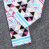 SOSOCOER Girls Letter Arrow Print T-shirt Geometric Pants Bowknot Headband Three-piece Suit - BLACK AND PINK