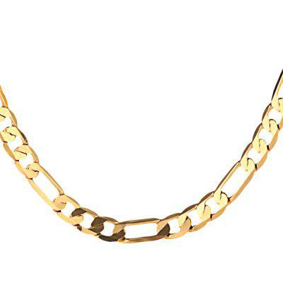 8mm 24K Plated Gold Color Figaro Chain Men Necklace