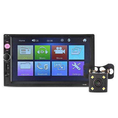 Gearbest 7010B Car MP5 Player with 720P Camera - BLACK Universal 7 inch Bluetooth FM Radio