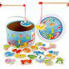 Wooden Fishing Puzzle Game Toy - COLORFUL