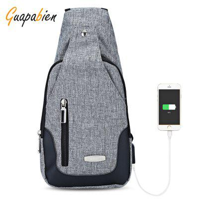 Guapabien USB Charge Port Crossbody Shoulder Chest Bag