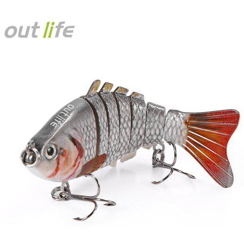 Outlife 7-segement Swimbait Crankbait Fishing Artificial Bait – Multi Color 1 223682501, Multi-jointed Lure with Treble Hook 10cm 20g | Warehouse: CN-099