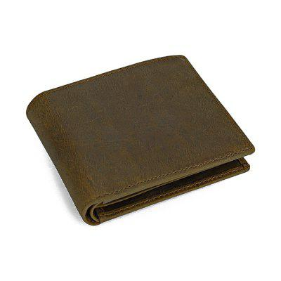 Male Leather Open Horizontal Wallet
