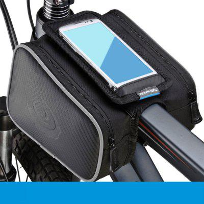 Roswheel 4,7 polegadas Outdoor Bike Front Frame Tube Saddle Bag com bolsa dupla para iPhone 6 Samsung Sony HTC