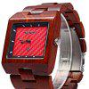 Bewell ZS - W016A Male Quartz Watch - RED SANDALWOOD