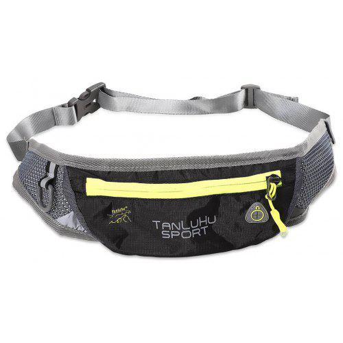 Yellow Sloth On The Tree Sport Waist Bag Fanny Pack Adjustable For Run
