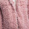Turn-down Collar Long Sleeve Women Wool Overcoat - PINK