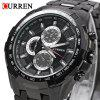 CURREN 8023 Men Quartz Watch - BLACK