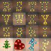 3D Marquee Letter Symbol LED Night Light Decoration Lamp - GREEN