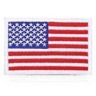USA Flag Tactical Patch Embroidery Magic Paste Sticker