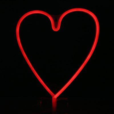 LED Heart Shape Neon Light Wall Lamp Holiday Decorations
