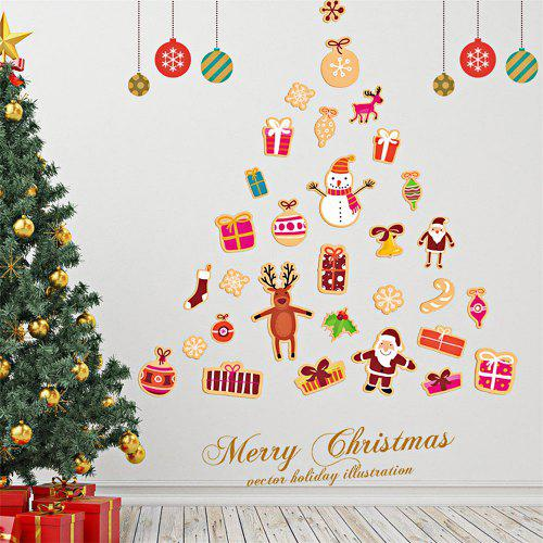 Diy Wall Stickers Window Clings Christmas Tree Gifts