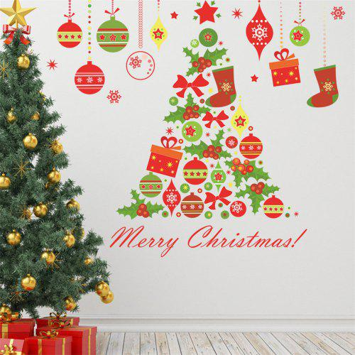 Diy Wall Stickers Window Clings Collage Christmas Tree