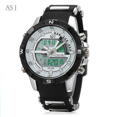 ASJ B220 Dual Movt Sports LED Male Watch