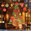 DIY Wall Stickers Window Clings Collage Christmas Tree - COLORMIX