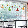 DIY Christmas Wall Stickers Removable Window Clings for Home Dress Shop Coffee House Restaurant Supermarket - COLORMIX