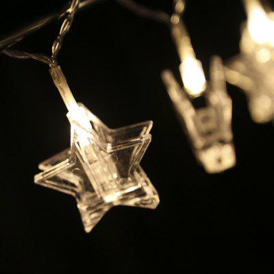 1.5M LED Star Shape Photo Clip String Light Home Decoration