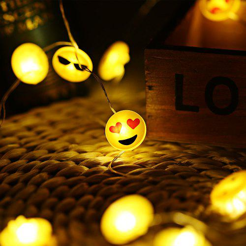 2M 20 LEDs Expression Shape Cooper Wire String Light