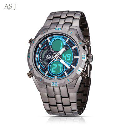 ASJ B897 Double Movt Sports LED Montre Homme