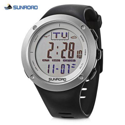 SUNROAD FR722B Fishing Digital Watch Altimeter Compass Barometer 5ATM Wristwatch