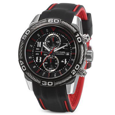 MEGIR MN2045 Men Calendar Stopwatch Quartz Watch