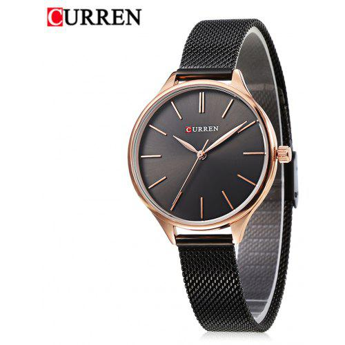 Curren 9024 Women Quartz Watch Simple Ultra-thin Dial Female Wristwatch