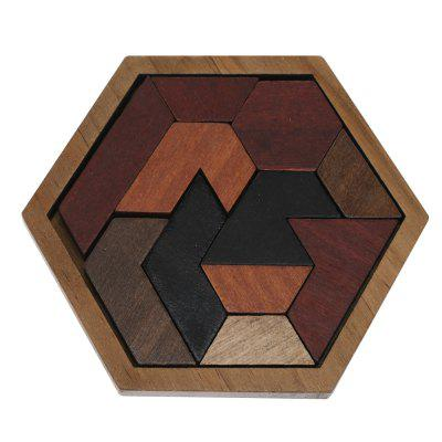 Wooden Hexagon Jigsaw Puzzle Board