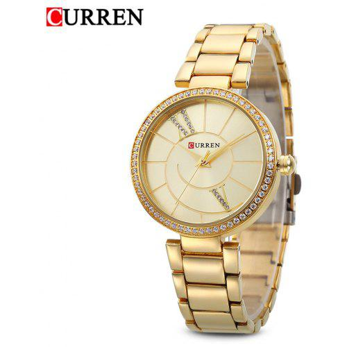 Curren 9014 Women Quartz Watch Crystal Dial - 0.00€  def199279b