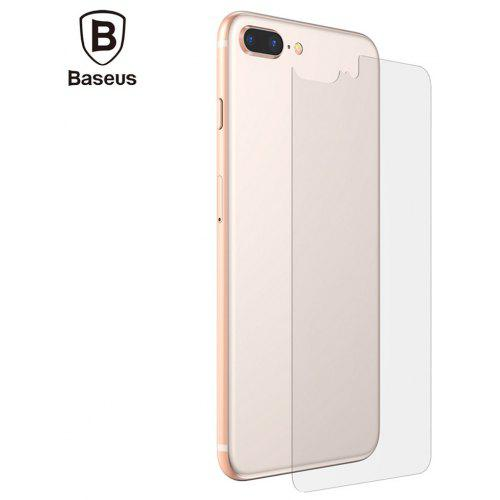 new arrival 39633 2a44a Baseus 0.3mm Transparent Back Case Tempered Glass Protector Film for iPhone  8 Plus