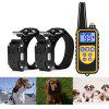 Remote Control Dog Electric Training Collar with 2 Receivers - BLACK