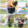 Car Type Electrical Cooler Heater Portable Refrigerator - BLACK
