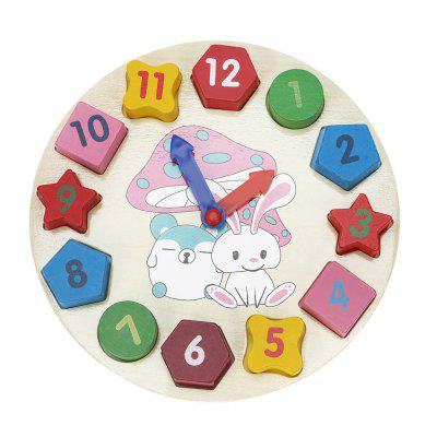 Puzzle de madeira Digital Geometry Clock Cognitive Toy