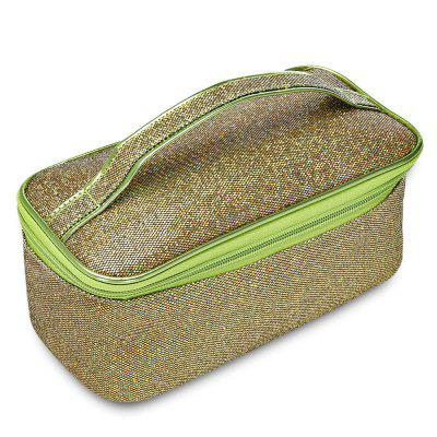 Sequins Bucket Makeup Handle Pouch Women Cosmetic Bag