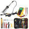 FSK - 166 Electronic Soldering Iron Kit with Carry Case - BLACK AND ORANGE