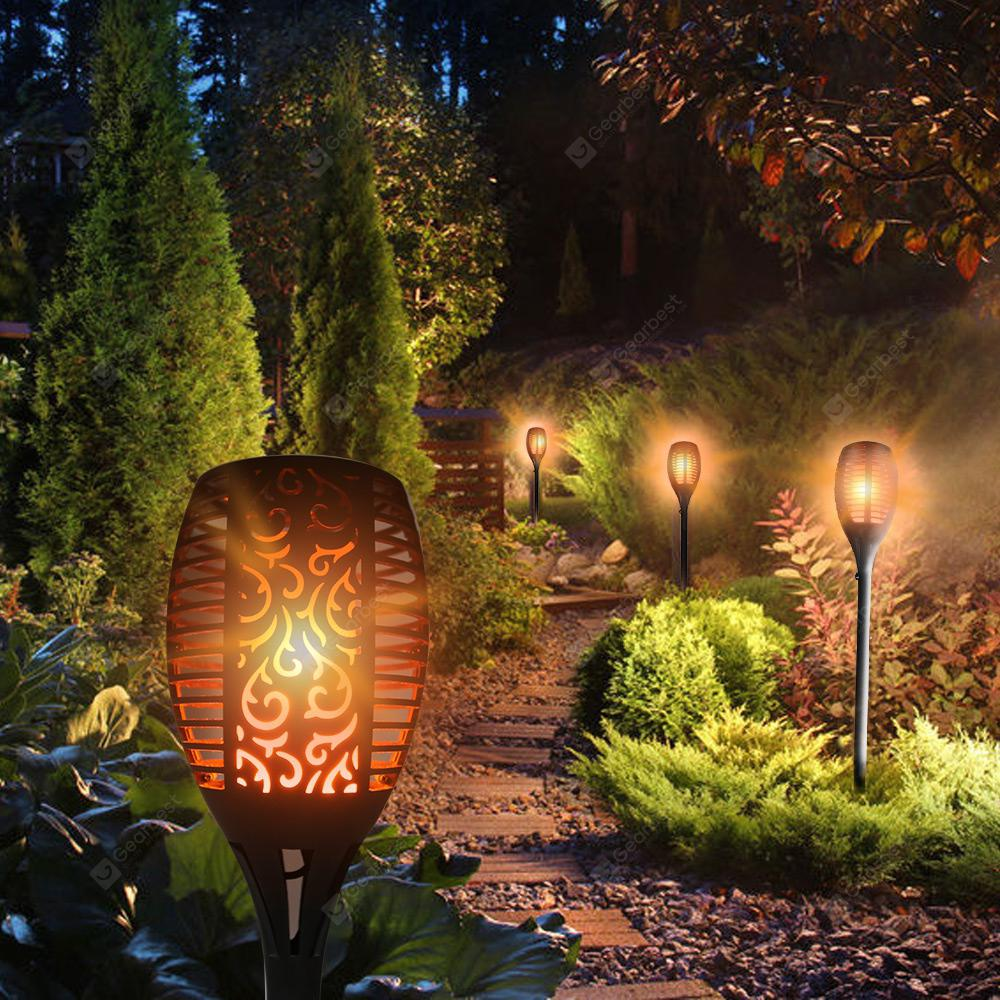 Utorch LED Solar Vattentät Flickrande Flame Torch Light Outdoor Landscape Decoration Lighting