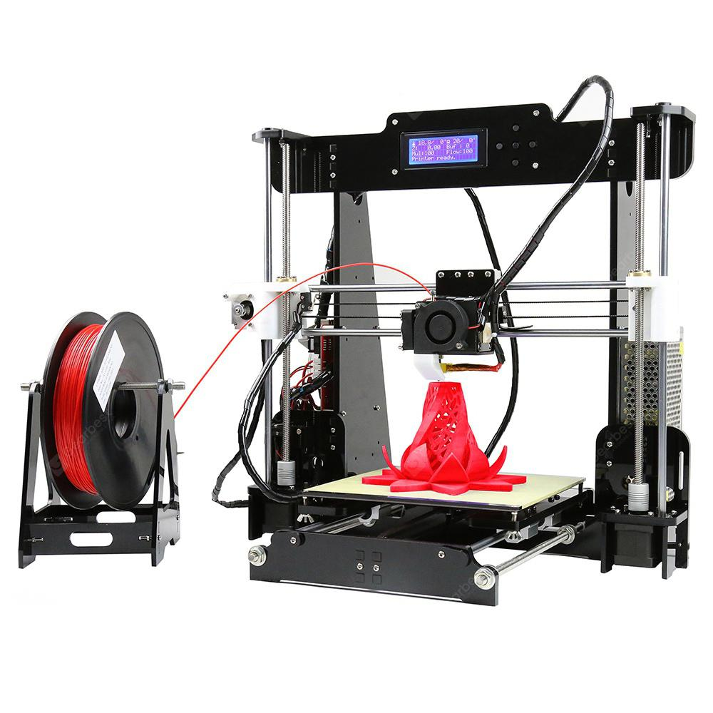 Anet A8 Desktop 3D Printer - SVART EU PLUG